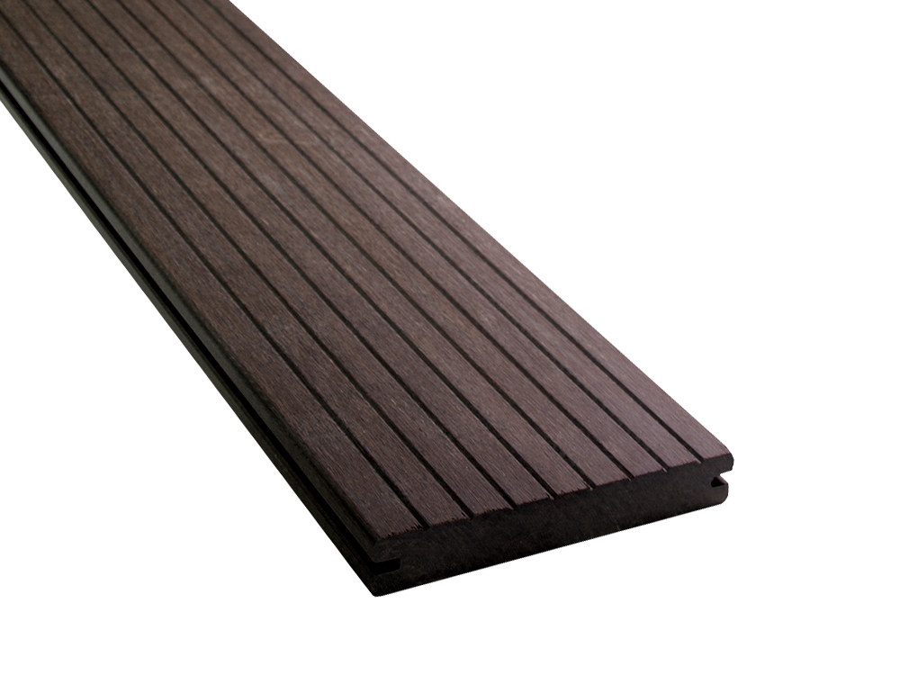 Bamboe terrasplank 20x137mm RIBBEL boven glad onder