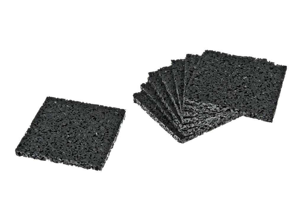 Granulaat rubber tegeldrager 5mm, 60x60mm
