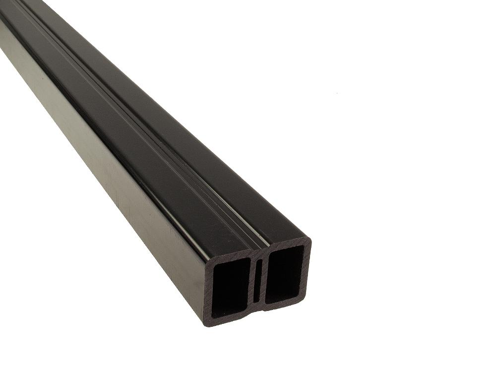 WPC onderregel 40x60mm Zwart